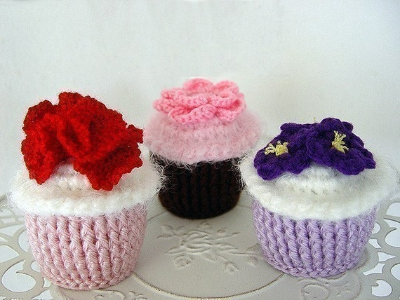 Flower Power Cupcakes PDF Pattern