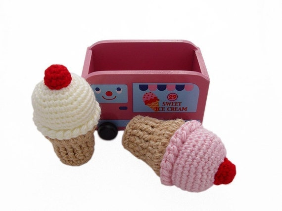 LICKETY SPLIT ICE CREAM CONE PLAY SET by Pukashell on Etsy
