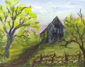 Old Shed ACEO