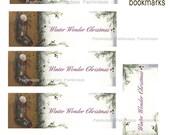 Winter Wonder Bookmark Collage Sheet