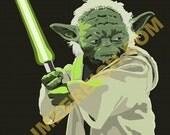 Yoda Illustrated Print