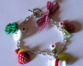 Cute Strawberry Chain Bracelet