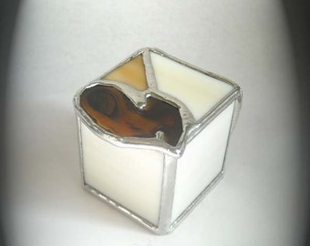 Stained Glass Trinket Box With Agate