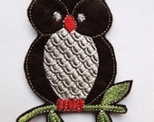 Iron On Patch Sew On Patch Brown Owl Embroidered Applique