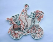 The Biker Applique Iron on Version