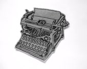 Typewriter patch - iron on patch - embroidered patch - patch - patches - patches for jackets - vintage typewriter - typewriter applique