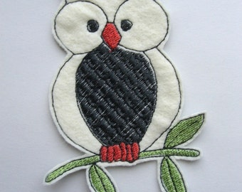Iron on Patch Owl Applique