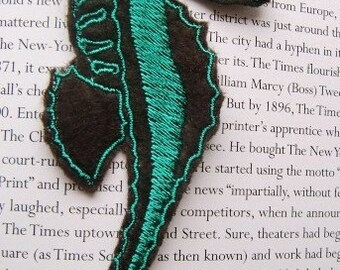 Teal and Brown Seahorse Applique