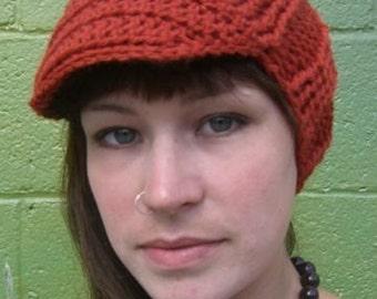 Paprika hat with brim