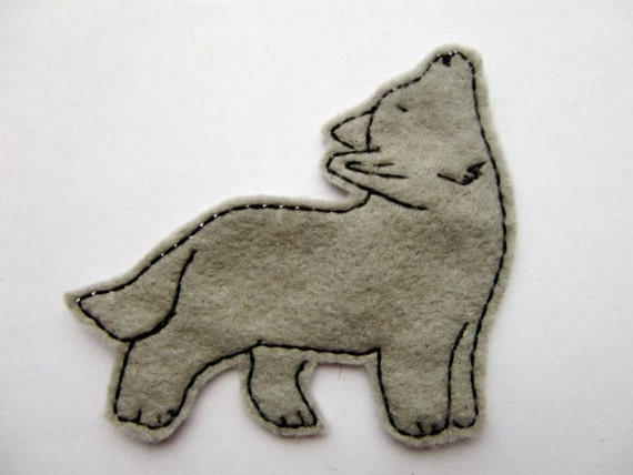 Iron on Patch Wolf Applique