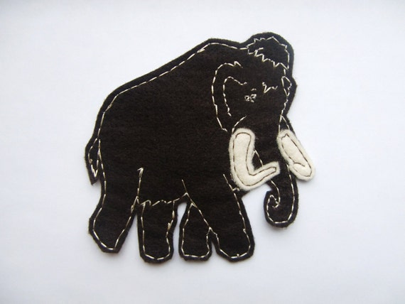 The Langston Woolly Mammoth Applique Iron on Version