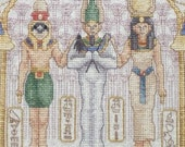 Egyptian Sampler Cross Stitch - FRAMED and  MATTED