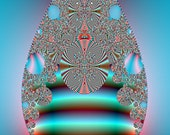 Fractal Art Digital Print - The Complexity of A Tear