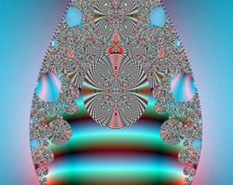 Fractal Art Digital Print - The Complexity of A Tear Revision One
