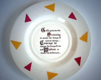 Earthenware Serenity Prayer Display Plate
