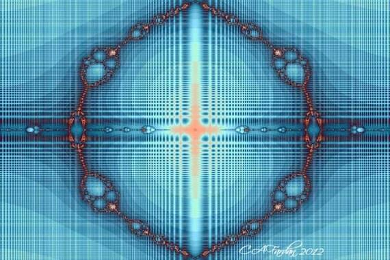 Abstract Fractal Art Digital Print - Angie's Blues