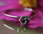 Mini Sterling Knot Ring