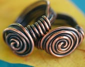 Chunky Copper Spiral Cocktail Ring