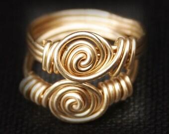 Gold Rossette Rings