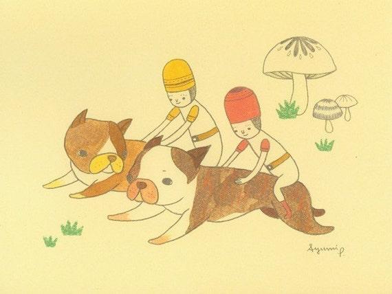 Notecard (Puppy Riders)