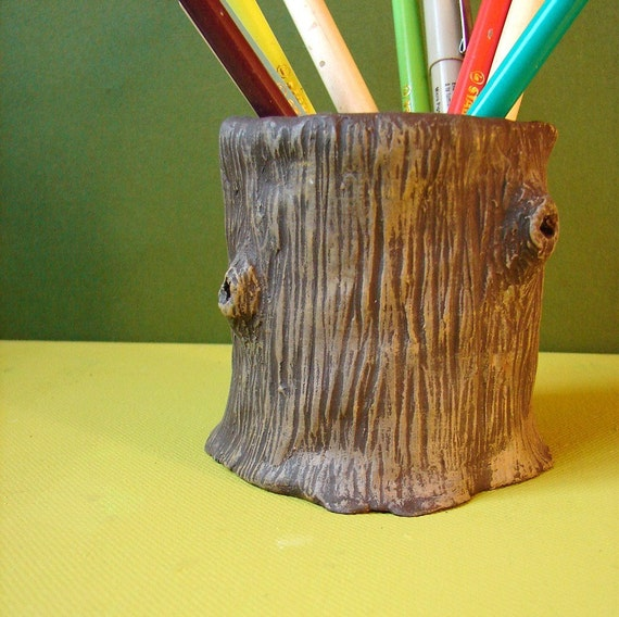 Tree Stump  ( pencil \/ untensil  holder )