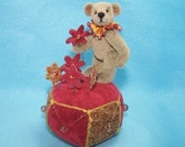 Miniature Teddy Bear Pincushion