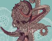 Octopus bloom - print