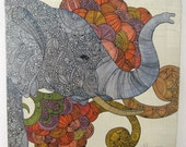 Dreams of India (small), original painting on canvas