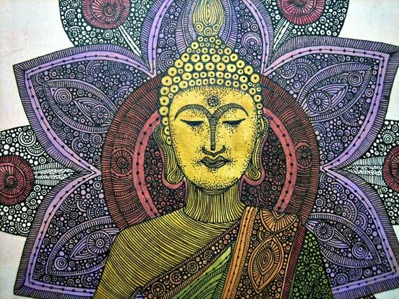 Sitting Buddha Original Painting on canvas