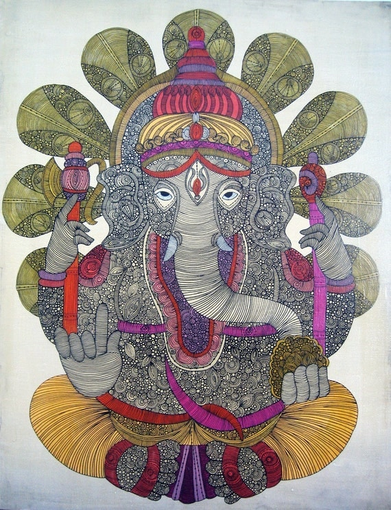 Ganesha: Lord of Success, painting on canvas