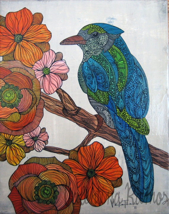 Bravebird original paiting on canvas