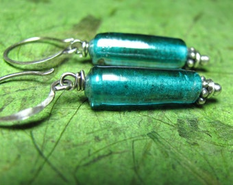 Seadance - Glass and Sterling Sterling Earrings