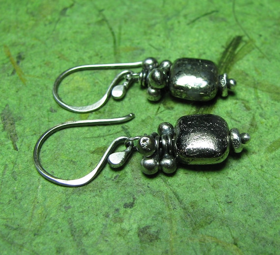 Mossimo - Pyrite and Sterling Silver Earrings