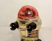 Little Gold and Red Tomy Wind Up Robot Print