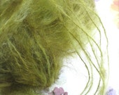 GREEN TEA Mohair Semi Solid - Handpainted Mohair Yarn by Pancake and Lulu