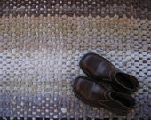 Corduroy Rag Rug, Handwoven Rug, Recycled Corduroy, Corduroy Pants, Eco Friendly Rug, Beige, Brown, Grey