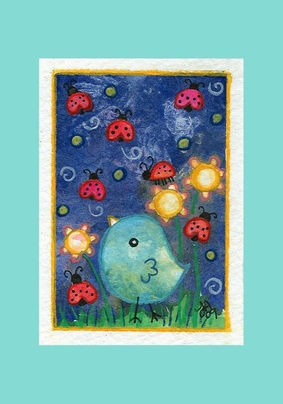 Ladybird - Archival Art Print 3.5x5
