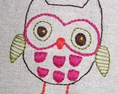 give a hoot digital PDF embroidery pattern collection