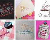Love is Punny digital embroidery pattern collection in PDF format