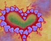 Heart Love mini print