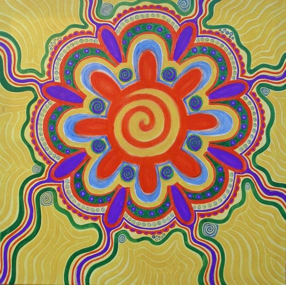 Cosmic Sunshine original oil painting