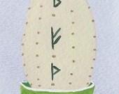 Ostara Egg - ACEO Art Card - From The Whimsical Mind of Juli Krasinski