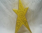 Energy Lucky Star - Primitive Whimsical Wooden Lucky Star