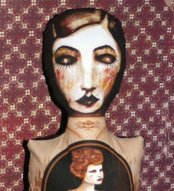 Sister Stuffed Print Doll