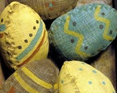 PDF  E Pattern INSTANT DOWNLOAD Primitive Old Painted Easter Eggs