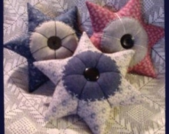 PDF  E Pattern INSTANT DOWNLOAD Primitive Calico Star Pincushion Pillow