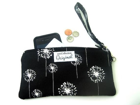 Black Wristlet Wallet, Zipper Wallet Wristlet for Women, Black Wristlet Purse, Womens Wallet Purse, Wrist Wallet