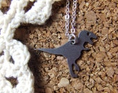 Tiny Saurus Rex Charm Necklace