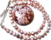 Dusty Rose Jasper Adjustable Necklace