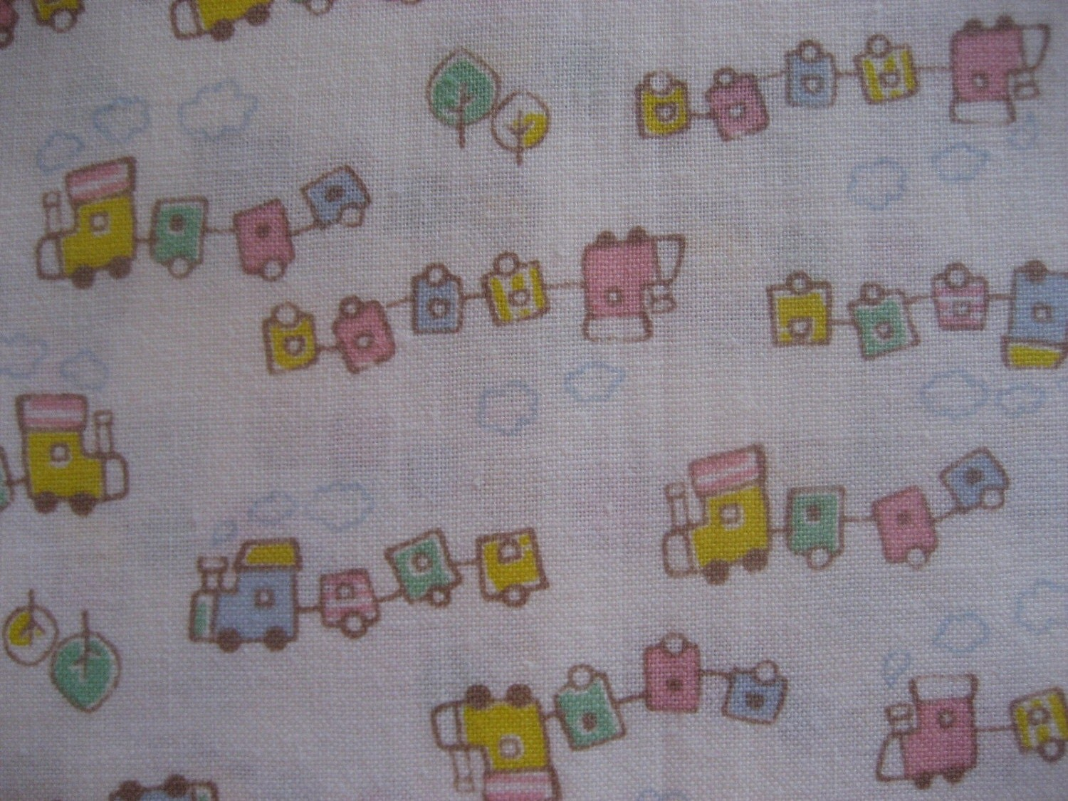 One yard japanese train cotton fabric for Train fabric by the yard